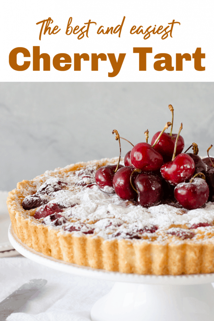 Cherry Tart Pin with text