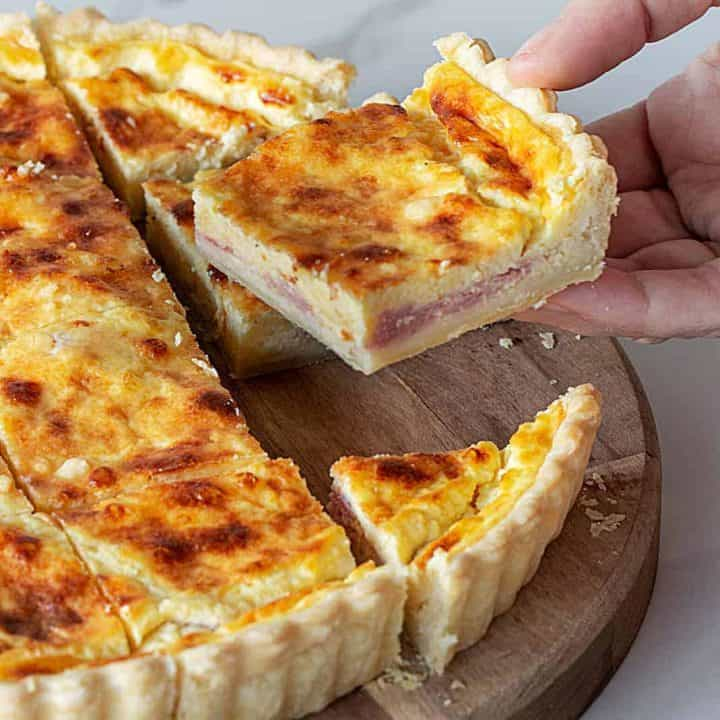 Leftover Ham and Cheese Quiche