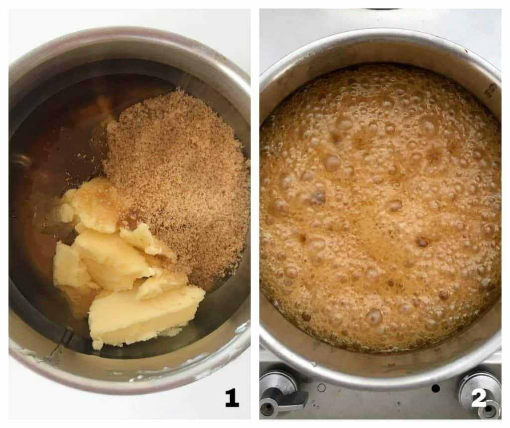 Saucepans with honey mixture process