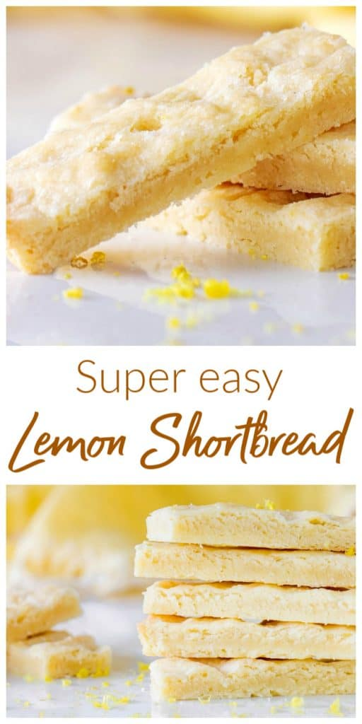 Lemon shortbread stacks, images with text