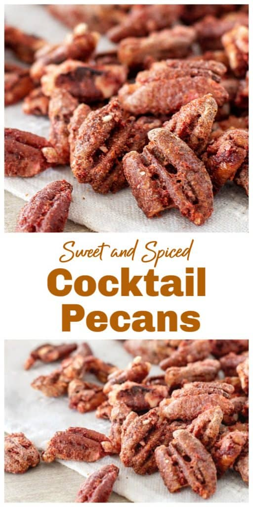 Sweet spiced nuts long pin with text