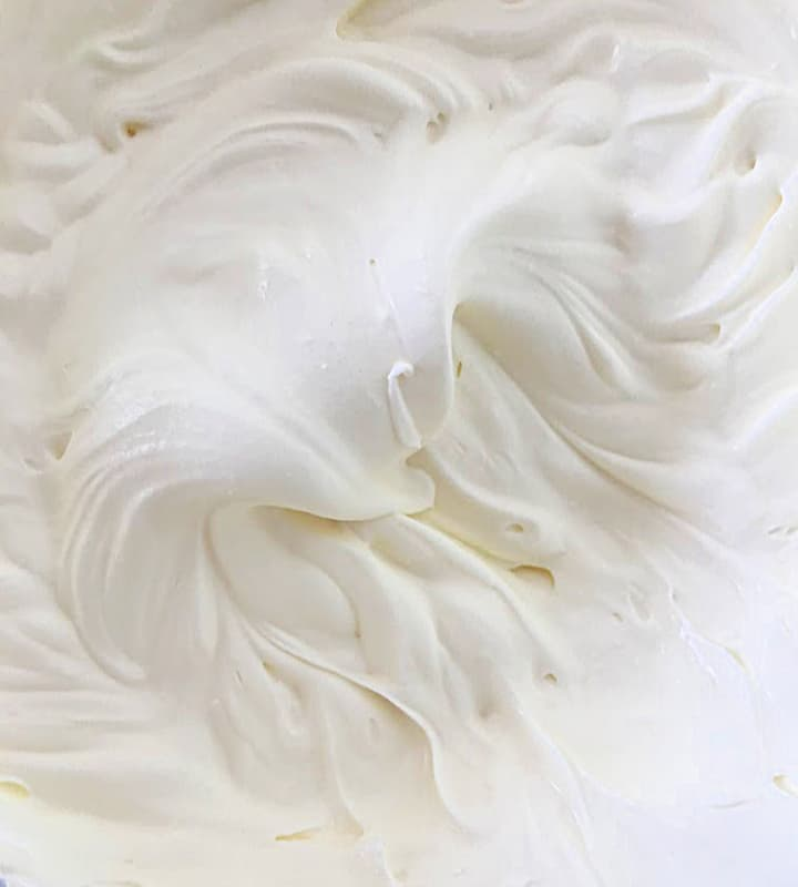Whipped cream close-up