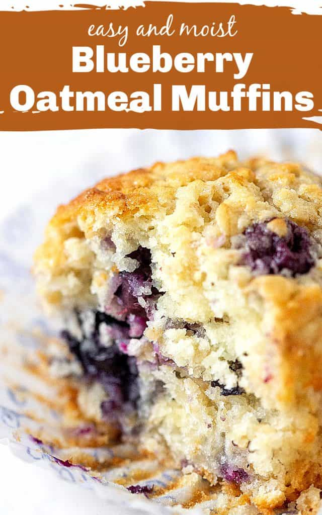 Close up of blueberry muffin crumb, white background, image with text